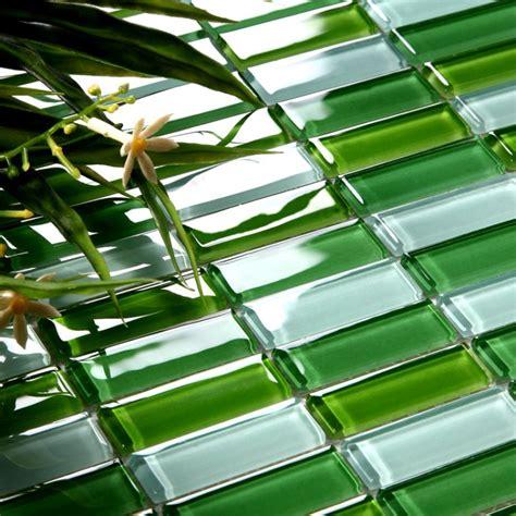 green glass tile glass tile brick kitchen backsplash tiles