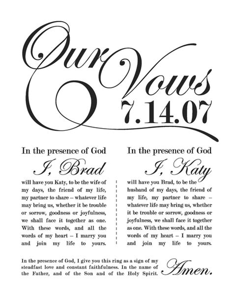 megan stoll studios brad katy wedding vow typography