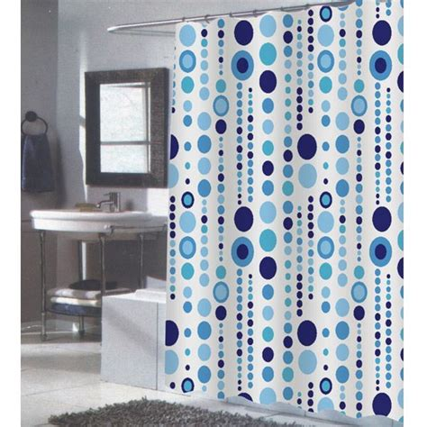 84 quot blue and white fabric shower curtain