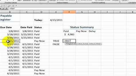 create  accounts payable status summary  excel youtube