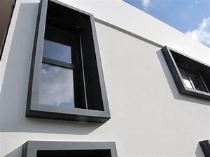 Entourage Fenetre Exterieur : encadrement beton gamme evasion sur fenetre alu 7016 de ~ Voncanada.com Idées de Décoration