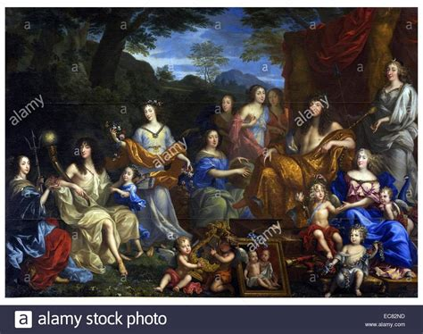 jean nocret family louis xiv louis and his family portrayed as roman gods painting by