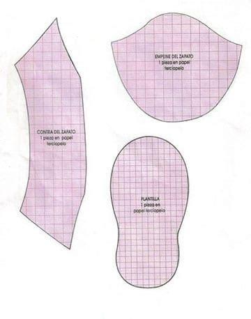 como hacer patrones o moldes de zapatitos para bebe