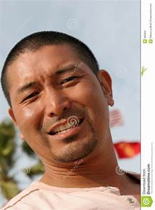 Attractive Asian Man stock photo. Image of beard ...
