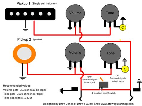 Guitar Wiring Diagram Stereo by Acoustic Electric Stereo Mono Wiring Weasyl