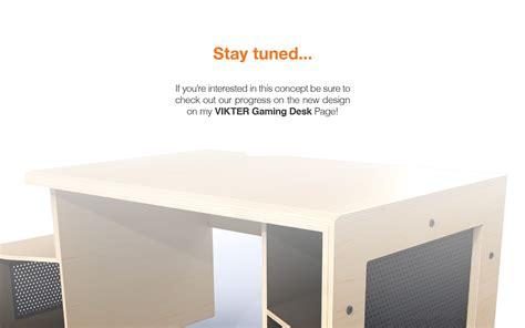 vikter gaming desk plans paragon gaming desk by tom balko at coroflot com