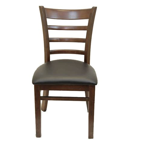 black ladder back chairs with seats walnut finish wood ladder back chair with black vinyl seat 9771
