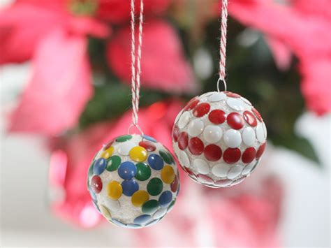 kids activity thumbtack ornaments