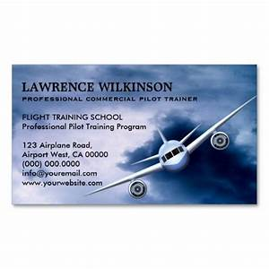 Commercial plane in sky aviation business cards for Aviation business cards