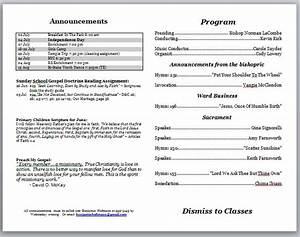 church program template peerpex With technical bulletin template word