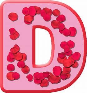 Presentation Alphabets: Rose Petals Letter D