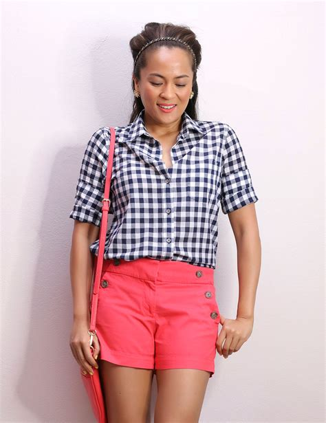 loft riviera sailor shorts   crew gingham button  shirt  ive practically