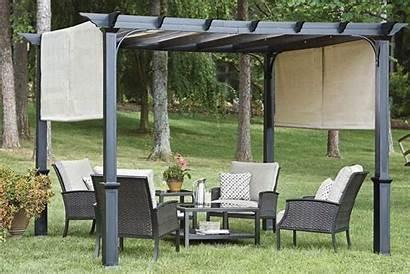 Pergola Canopy Garden Outdoor Backyard Treasures Metal
