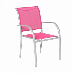 Chaise Et Fauteuil De Jardin : fauteuil de jardin empilable piazza framboise silver chaise et fauteuil de jardin eminza ~ Teatrodelosmanantiales.com Idées de Décoration