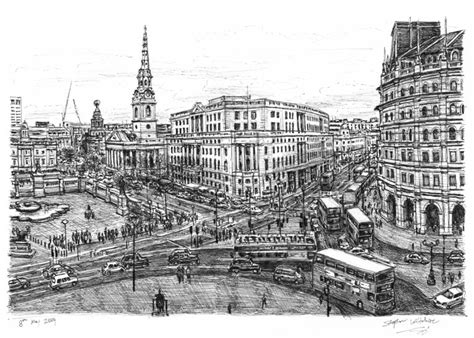 trafalgar square london drawings prints  limited