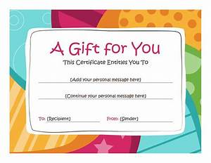 birthday gift certificate template free printables With birthday cheque template