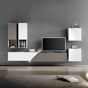 Meuble Tv Suspendu Led : meuble tv moderne 30 designs uniques et conseils pratiques ~ Melissatoandfro.com Idées de Décoration