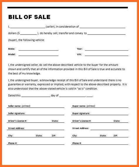 example of bill of sale example of bill of sale soap format