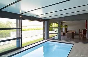piscine interieure sous veranda caron piscines piscine With piscine interieure maison prix