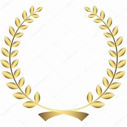 Laurel Wreath Caesar Lauwerkrans Gouden Corona Stockillustratie