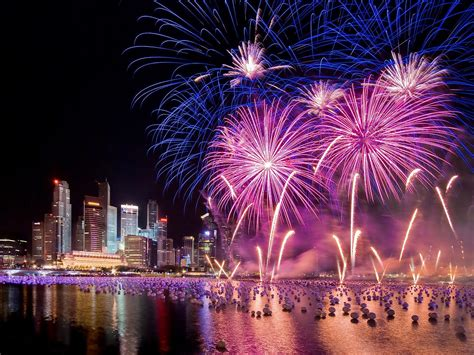 singapore  years eve holiday fireworks city  night hd wallpaper  wallpaperscom