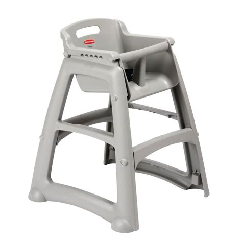 rubbermaid professional children s highchair gray