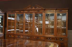 Breakfront China Cabinet Plans by Large Mahogany China Cabinet Six Door Breakfront Ebay