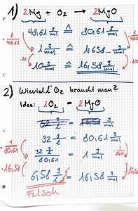 Chemie N Berechnen : berechnen 10g mg sauerstoff liefern wieviel magnesiumoxid wieviel liter sauerstoff ben tigt ~ Themetempest.com Abrechnung