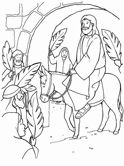 Easter Coloring Pages Christian Religious Printable Sheets