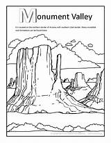 Coloring Pages Valley Canyon Grand Monument States United Printable Getcolorings Colori Print Arizona sketch template