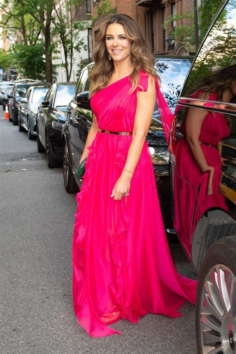 elizabeth hurley attends breast cancer research foundation