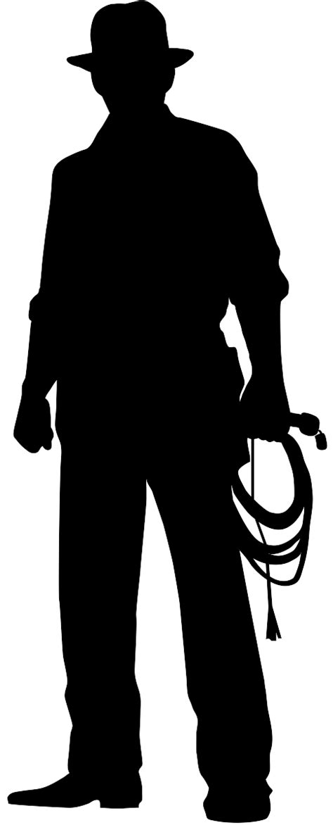 Indiana Jones Clipart by Indiana Jones Silhouette Free Vector Silhouettes