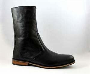 handmade men black leather boots long boot for men men With custom leather boots mens