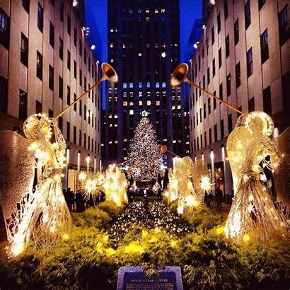 Rockefeller Center Christmas Merry Nyc York Tree