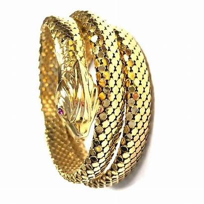Snake Gold Bracelet Around Wrap Coiled Flexible