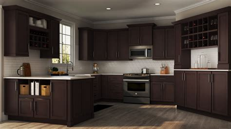 shaker specialty kitchen cabinets  java kitchen  home depot