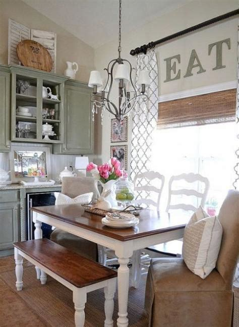 modern dining room design and decorating in vintage style