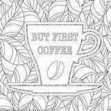 Coloring Coffee Zentangle Adult Getcoloringpages Theme Printable Sheets Doodle sketch template