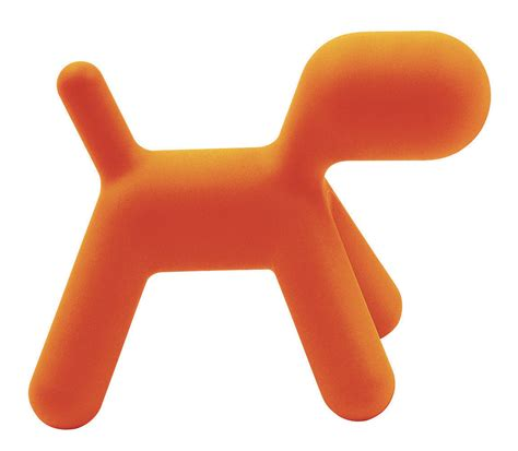 bureau et chaise chaise enfant puppy small l 42 cm orange mat magis