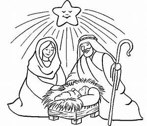 Pintar Nacimiento de Jesus Dibujos de Navidad ~ Dibujos