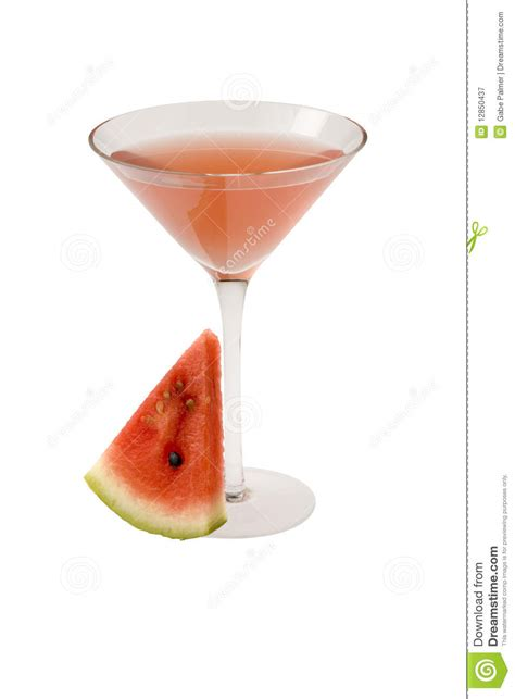 watermelon martini cocktail royalty free stock photography