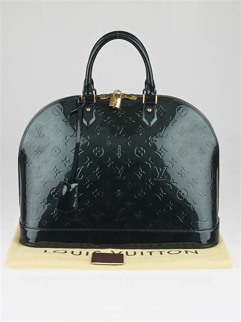 louis vuitton blue nuit monogram vernis alma gm bag yoogis closet