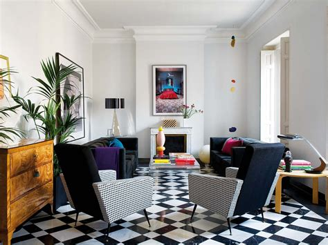 Sparkling Apartment Design by Impeccable Classic Contemporary Madrid Flat With Sparkling