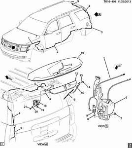 2015 Chevrolet Tahoe Base 4dr Motor  Rear Window Wiper
