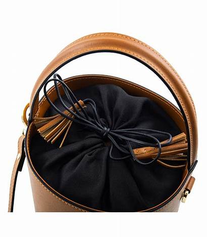 Bucket Bag Leather Saffiano Brown Bags