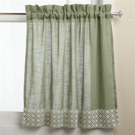 sheer lace curtain half window curtains ideas homesfeed