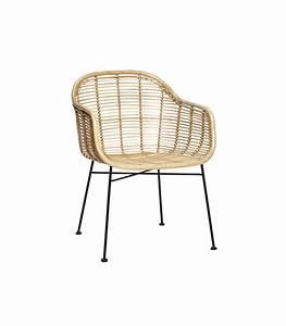 Chaise Rotin Metal : chaise rotin accoudoirs hubsch ~ Teatrodelosmanantiales.com Idées de Décoration