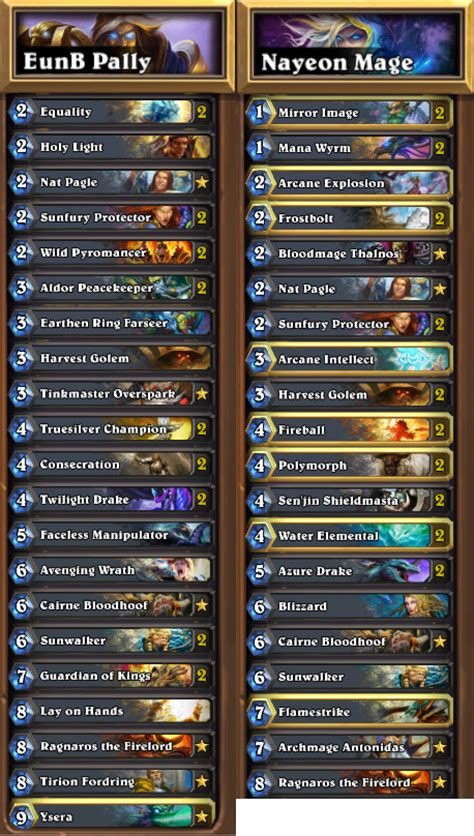opinions on ysera on a mage or paladin deck card
