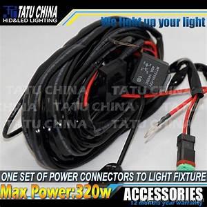 40 Amp Off Road Atv  Jeep Led Light Bar Wiring Harness