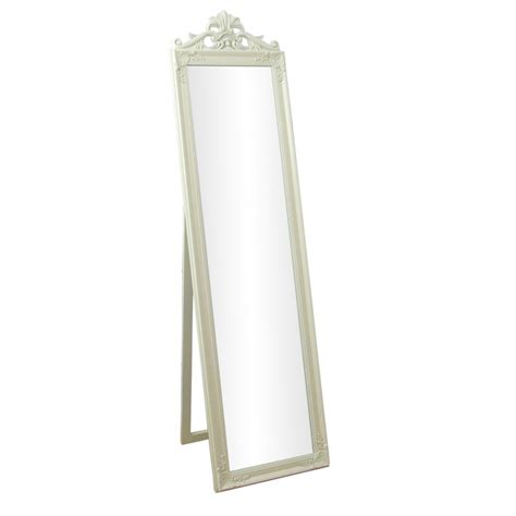 shabby chic free standing mirror lambeth shabby chic wooden framed free standing cream cheval mirror